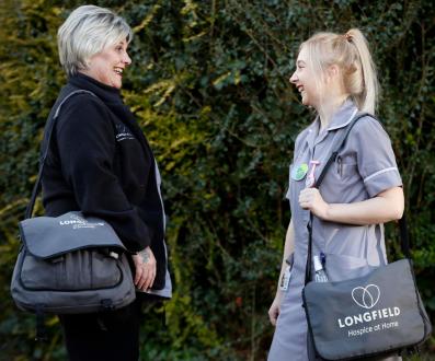 Longfield nurses talking outside