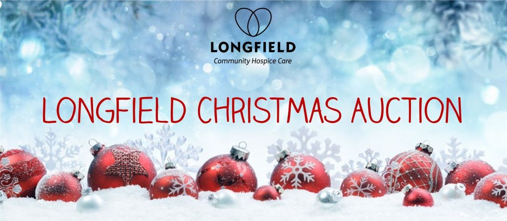 Longfield Christmas Auction with red Christmas baubles