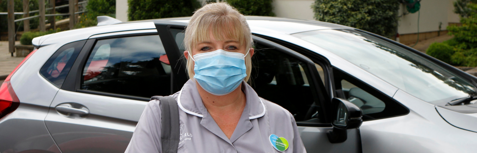 Tracey Hospice at Home in PPE